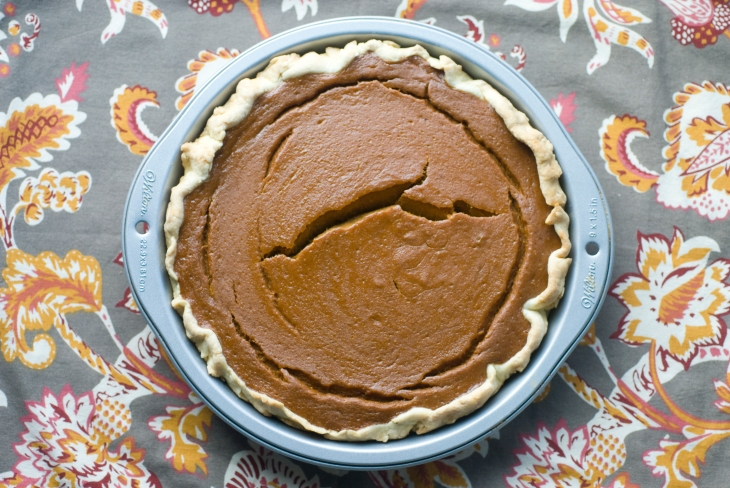 pumpkin pie using recipes from ideas in food, serious eats and saveur