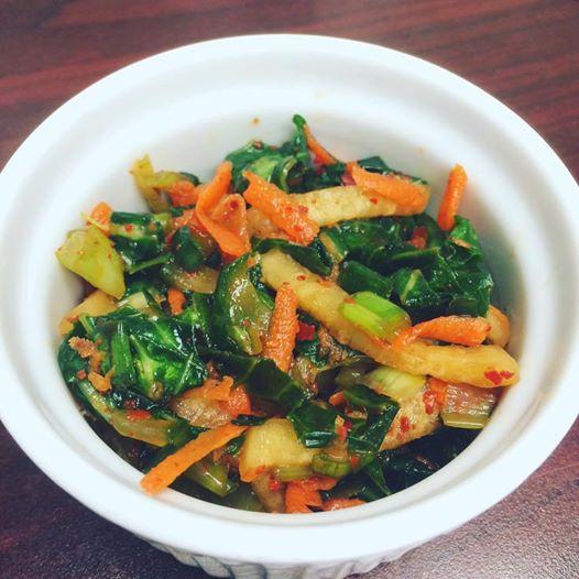Quick Collard Green Kimchi