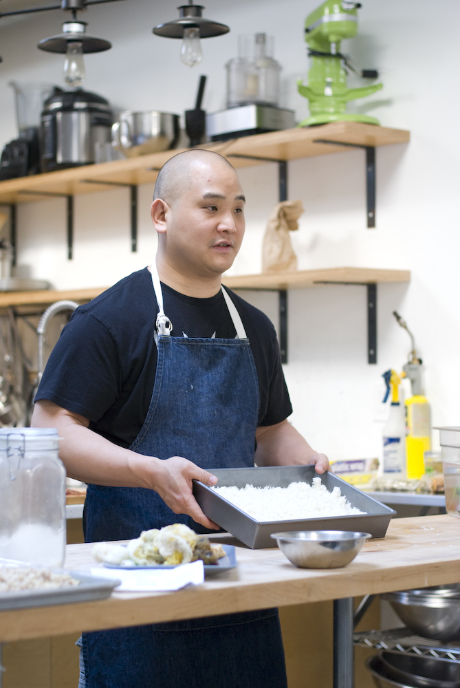 Rich Shih of OurCookQuest at his miso and koji worshop and dinner at Balboa catering in philadelphia